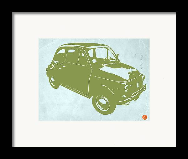 Fiat 500 Framed Print featuring the digital art Fiat 500 by Naxart Studio