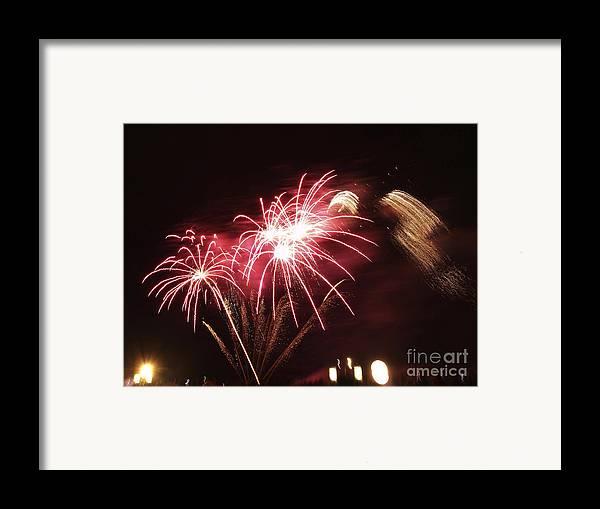 Aglow Framed Print featuring the photograph Firework Display by Bernard Jaubert