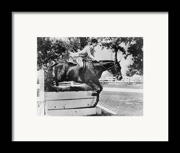 History Framed Print featuring the photograph First Lady Jacqueline Kennedy, Riding by Everett