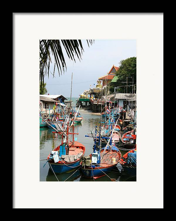 Temple Framed Print featuring the photograph Fishing Boats by Adrian Evans