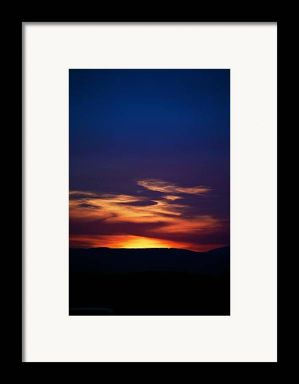 Sunset Framed Print featuring the photograph Flame Out by Kevin Bone