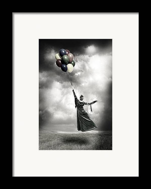 Female Framed Print featuring the photograph Floating by Joana Kruse