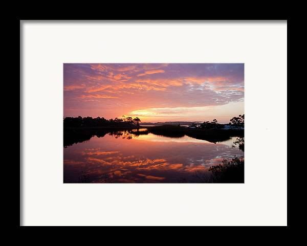 Sunrise Framed Print featuring the photograph Florida Sunrise by Charles Warren
