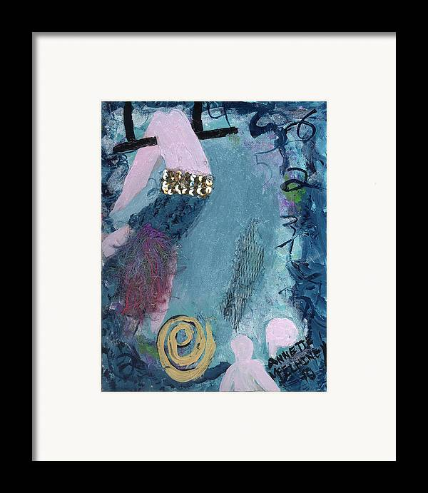 Women Framed Print featuring the painting Flying Without A Net by Annette McElhiney
