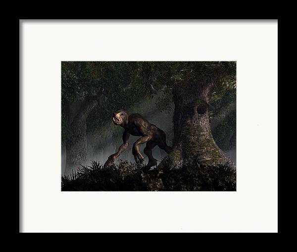 Forest Framed Print featuring the digital art Forest Creeper by Daniel Eskridge