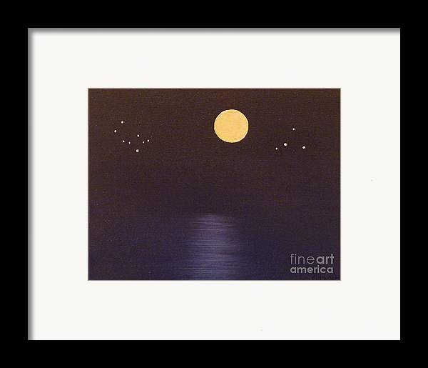 Stars Framed Print featuring the painting Gemini And Libra by Alys Caviness-Gober