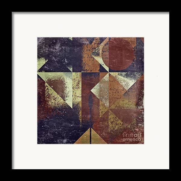 abstract Art Framed Print featuring the digital art Geomix 04 - 6ac8bv2t7c by Variance Collections