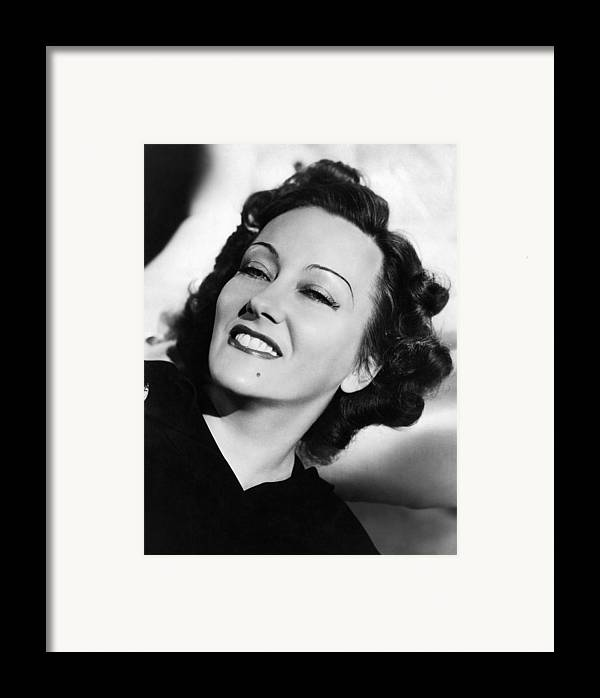11x14lg Framed Print featuring the photograph Gloria Swanson, Ca. Early 1940s by Everett