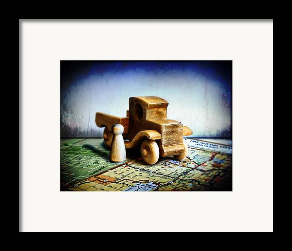 Toy Truck Framed Print featuring the photograph Gone Truckin by Adam Vance