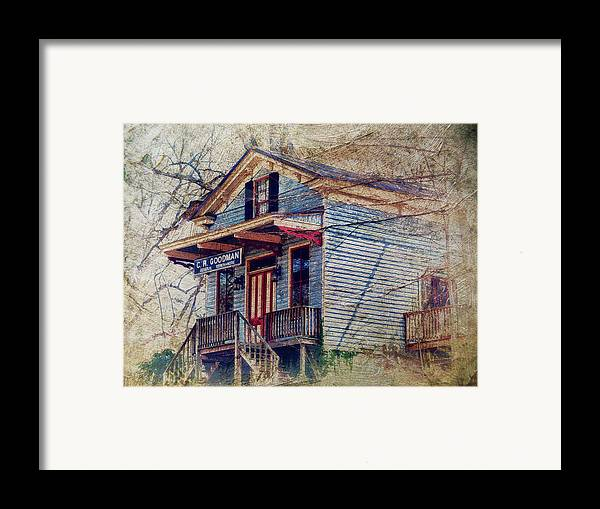 General Store Framed Print featuring the photograph Goodman General Merchandise by Kathy Jennings