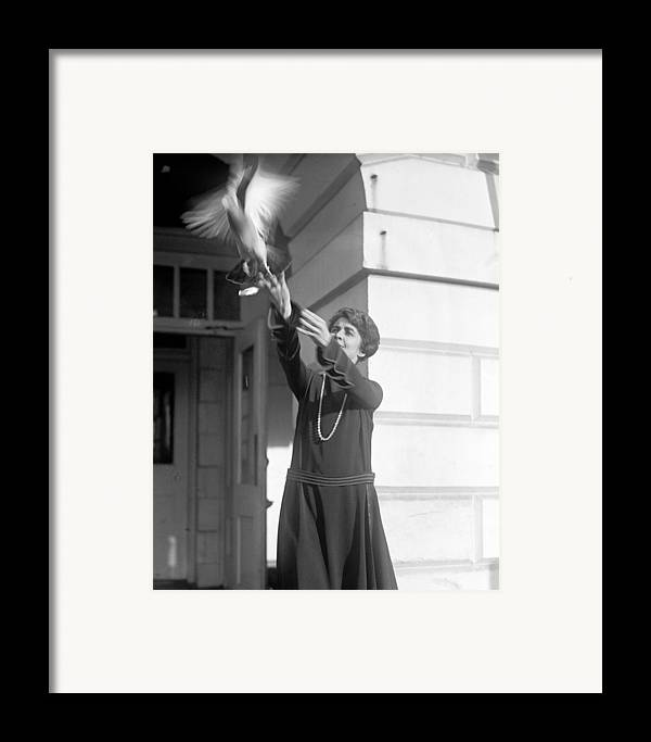 1920s Candid Framed Print featuring the photograph Grace Coolidge 1879-1957, First Lady by Everett
