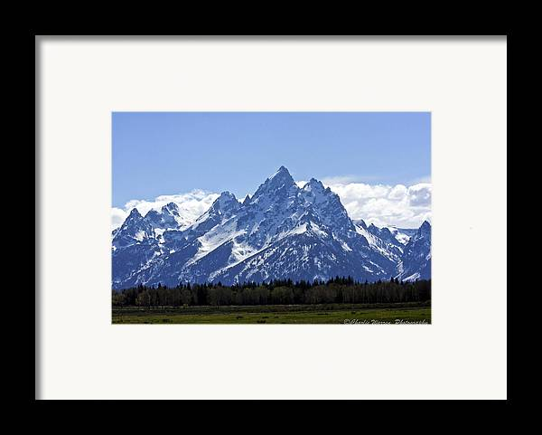 Grand Tetons Framed Print featuring the photograph Grand Tetons 2 by Charles Warren