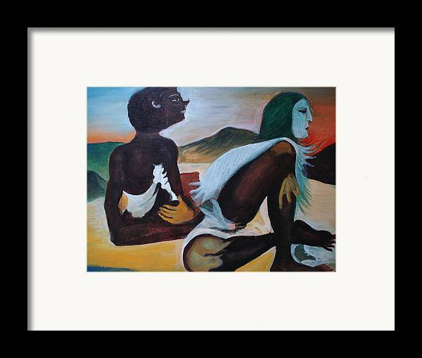 Hills Framed Print featuring the painting Hallucination by Prasenjit Dhar