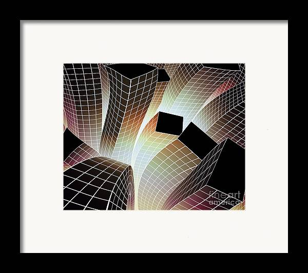 Aftershock Framed Print featuring the digital art Happy City by Atiketta Sangasaeng