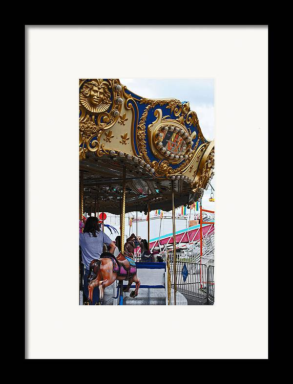 Fair Framed Print featuring the photograph Happy Ponies by Skip Willits