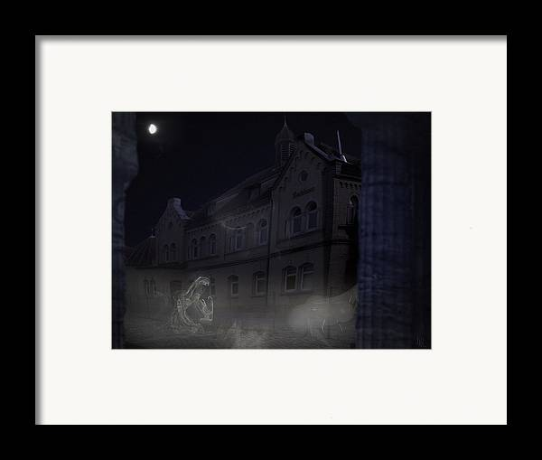 Scary Framed Print featuring the digital art Haunted House by Nafets Nuarb