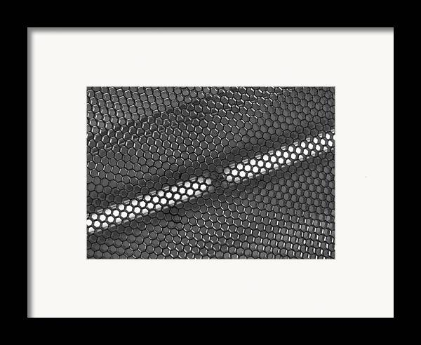 Black And White Framed Print featuring the photograph Hexagon Lights by Anna Villarreal Garbis