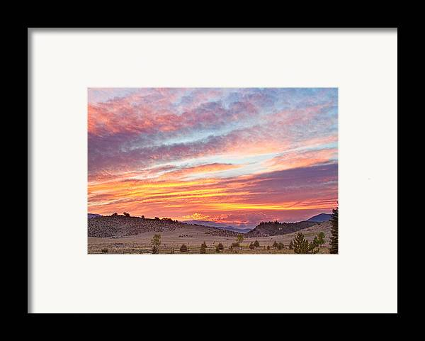 High Park Wildfire Framed Print featuring the photograph High Park Wildfire Sunset Sky by James BO Insogna