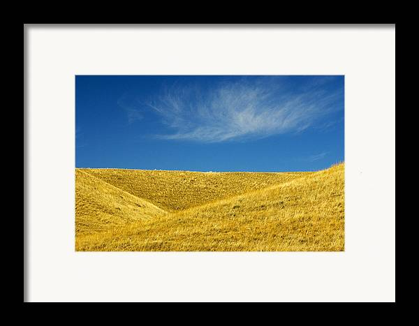 Agriculture Framed Print featuring the photograph Hills And Clouds, Cypress Hills by Mike Grandmailson