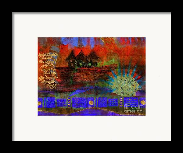 Greeting Cards Framed Print featuring the painting Home Is Where We Live by Angela L Walker