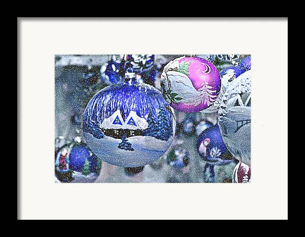 Glass Balls Framed Print featuring the photograph Hung With Love by Christine Till