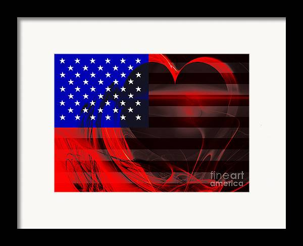 Usa Framed Print featuring the photograph I Love America by Wingsdomain Art and Photography
