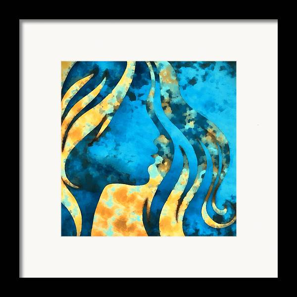 Wonder Framed Print featuring the digital art I Should Have Said Goodbye 2 by Angelina Vick