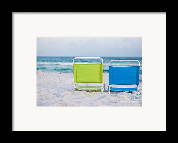 Beach Framed Print featuring the photograph If I Were A Chair... by Barbara Shallue