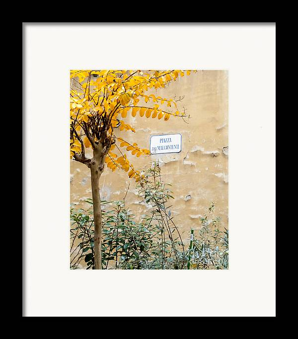 Italy Framed Print featuring the photograph Il Piazza Malcontenti by Michael Flood