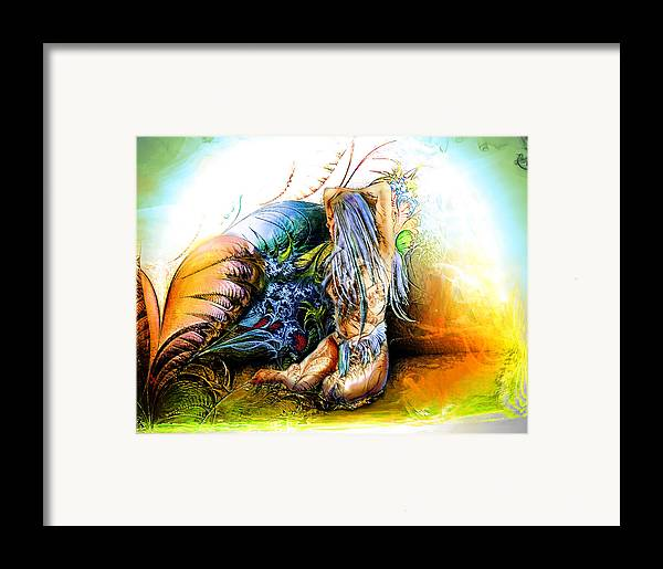 Garden Framed Print featuring the painting In The Garden by Adam Vance
