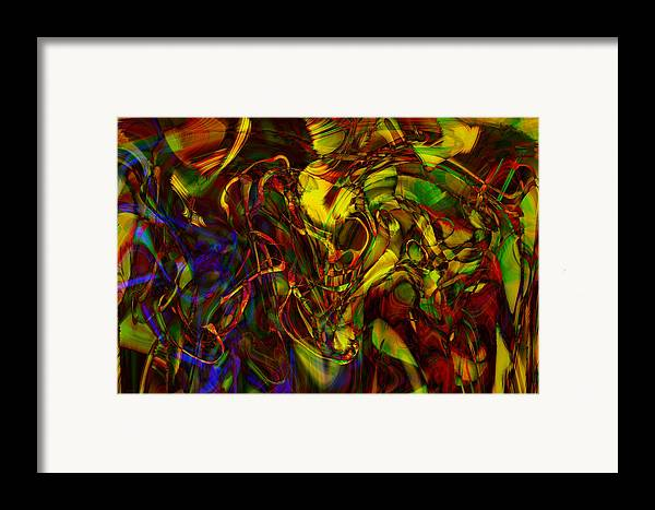 Abstract Framed Print featuring the digital art Injections by Linda Sannuti