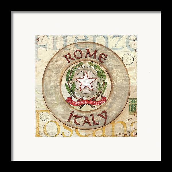 Rome Framed Print featuring the painting Italian Coat Of Arms by Debbie DeWitt