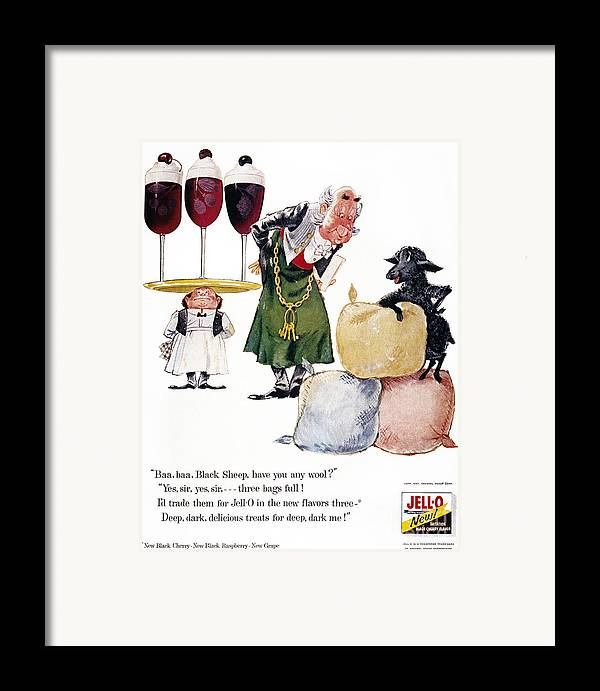 1957 Framed Print featuring the photograph Jell-o Advertisement, 1957 by Granger