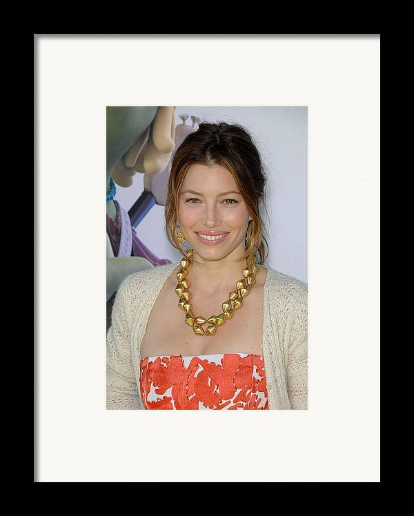 Jessica Biel Framed Print featuring the photograph Jessica Biel At Arrivals For Planet 51 by Everett
