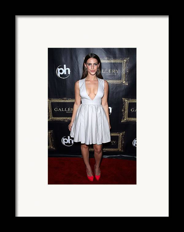 Jessica Lowndes Framed Print featuring the photograph Jessica Lowndes At Arrivals For Jessica by Everett