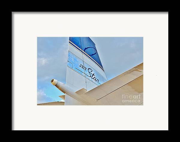 Lockheed Framed Print featuring the photograph Jet Star by Lynda Dawson-Youngclaus