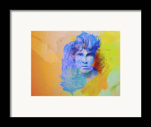 Jim Morisson Poster Framed Print featuring the painting Jim Morisson by Naxart Studio