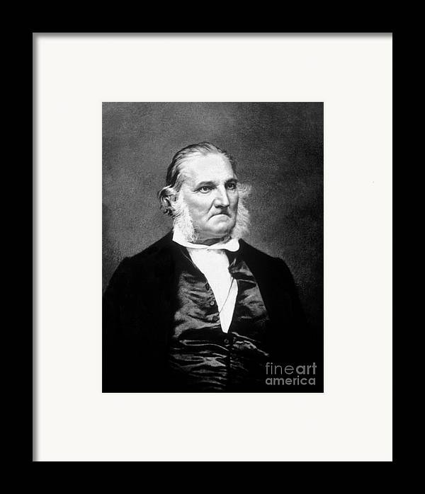 History Framed Print featuring the photograph John James Audubon, French-american by Science Source