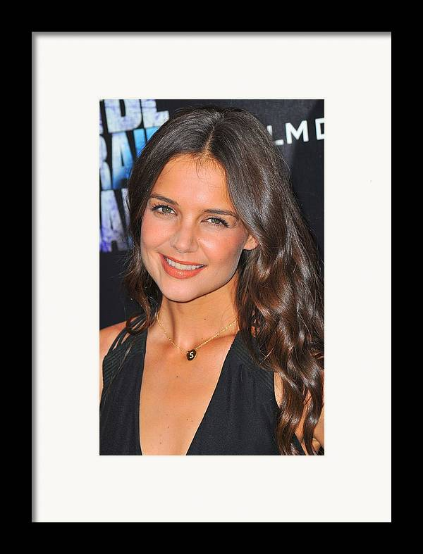 Katie Holmes Framed Print featuring the photograph Katie Holmes Wearing A Jennifer Meyer by Everett