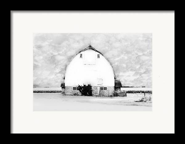 Country Art Framed Print featuring the photograph Kays Barn by Julie Hamilton
