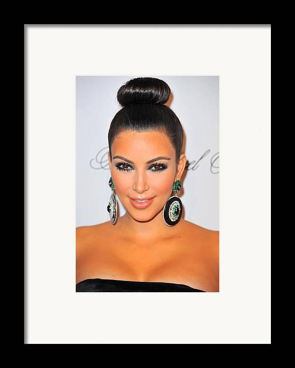 Kim Kardashian Framed Print featuring the photograph Kim Kardashian At Arrivals For The by Everett
