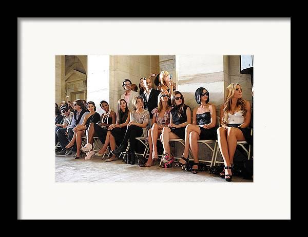 Kim Kardashian Framed Print featuring the photograph Kim Kardashian, Kelly Rowland, Amanda by Everett