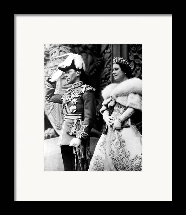 1930s Candid Framed Print featuring the photograph King George Vi, Queen Elizabeth by Everett