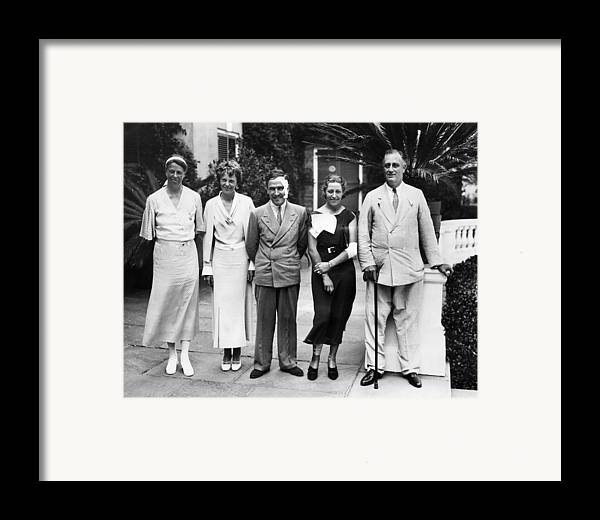 1930s Framed Print featuring the photograph L-r First Lady Eleanor Roosevelt by Everett