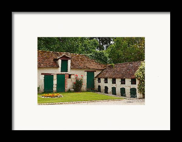 La Pillebourdiere Framed Print featuring the photograph La Pillebourdiere Old Farm Outbuildings In The Loire Valley by Louise Heusinkveld