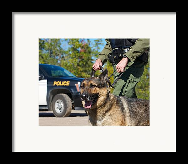 Abstract Framed Print featuring the photograph Law Enforcement. by Kelly Nelson