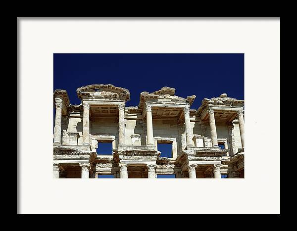 Library Of Celsus Framed Print featuring the photograph Library Of Celsus In Ephesus by Sally Weigand