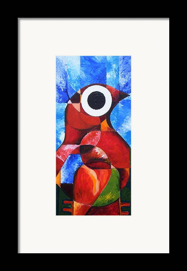Petrified Birds Framed Print featuring the painting Life Spirit Affirmtion by Harold Bascom