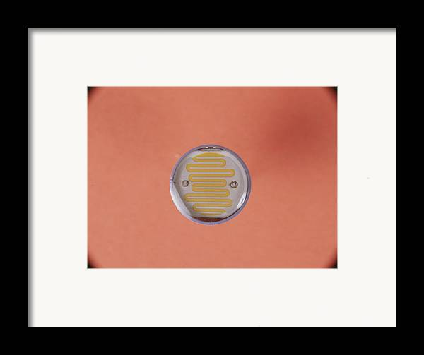 Component Framed Print featuring the photograph Light Dependent Resistor by Andrew Lambert Photography