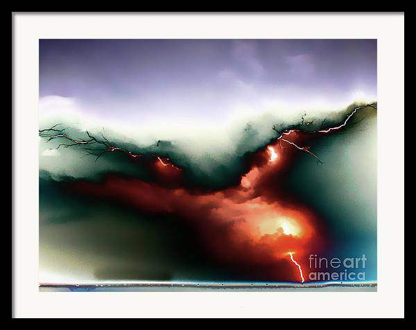 Lightning Strike Framed Print featuring the photograph Lightning Strike by Graham Taylor